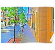 Denver city streets Poster