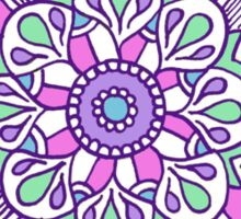 Mandala: Lilac/Mint Sticker