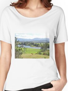 View over the Tweed Women's Relaxed Fit T-Shirt