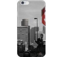 Denver Cityscape Stop Sign iPhone Case/Skin