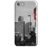 Denver Cityscape Stop Sign iPhone Case/Skin