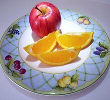 """""""Apple & Orange Wedges"""" by franticflagwave"""