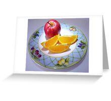 """""""Apple & Orange Wedges"""" Greeting Card"""