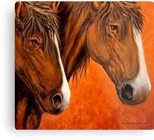 Fresh Water For My Horses Metal Print