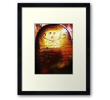 Grim rememberance! Framed Print