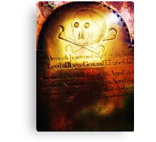Grim rememberance! Canvas Print
