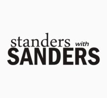 Standers with Sanders (black) by GodsAutopsy