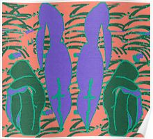 Lilac mirror- Digital abstract art Poster