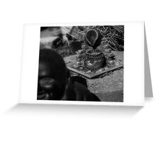 Over Buddha's shoulder Greeting Card