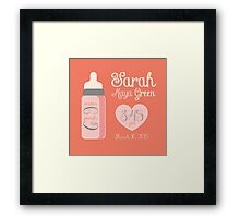 Baby Girl Annoucnement Framed Print