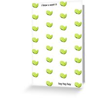 Blurred Limes Greeting Card