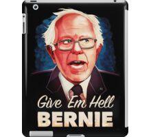 Bernie Sanders 2016 on black iPad Case/Skin