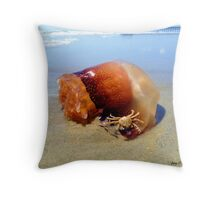 Jellyfish Crab Hitchhiker  Throw Pillow