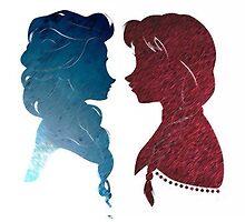 Elsa & Ana / Frozen by Jaimeosnayaa