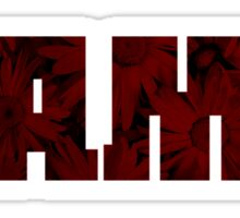 Alabama Football Flowers (Color II) Sticker
