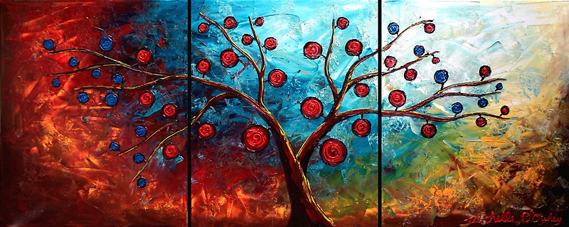 The Red & Blue Fruit by Abstract D'Oyley