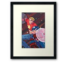 Steve and the Steven Framed Print