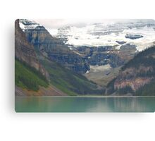 Canoeing on Lake Louise  Canvas Print