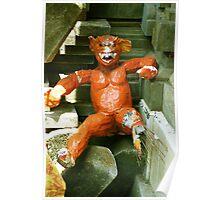 Orange Balinese Demon  Poster