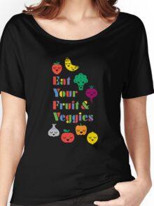 Eat Your Fruit & Veggies lll dark Women's Relaxed Fit T-Shirt