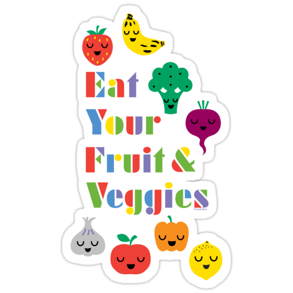 Eat Your Fruit & Veggies lll dark by Andi Bird