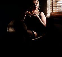 Miss Noir relaxing by Matt Sillence