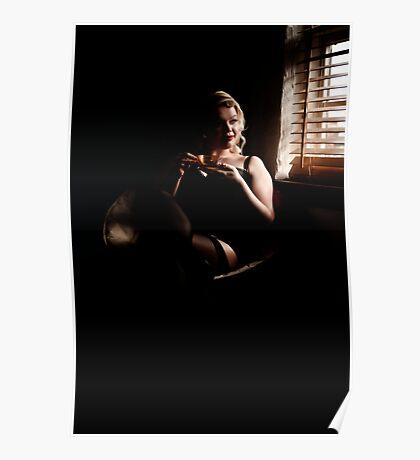 Miss Noir relaxing Poster