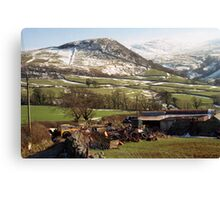 Llanfairfechan in snow Canvas Print