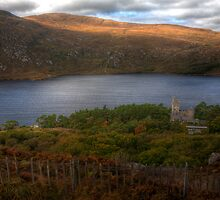 Glenveagh Castle overlooking the lough. by Peter Ellison