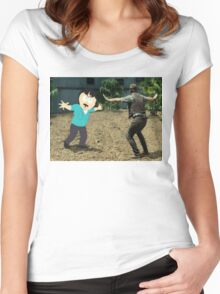 Jurassic World Randy Women's Fitted Scoop T-Shirt