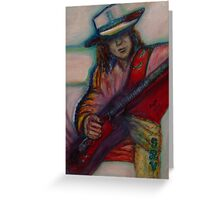 Stevie Ray Vaughan Greeting Card