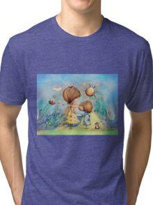 sun and sea Tri-blend T-Shirt