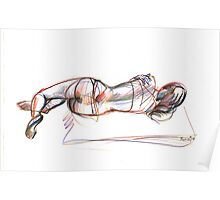 reclined nude Poster