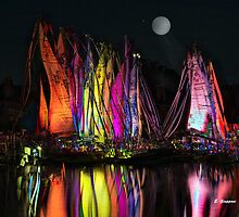 FULL MOON AT THE HARBOR II by Elizabeth Giupponi