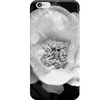 Black And White Peony Flower iPhone Case/Skin