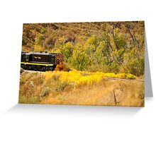 Heber Valley Railroad in the Fall Greeting Card