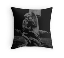 Statues in cemeteries Throw Pillow