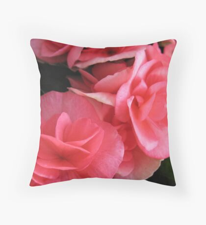 Pink Begonia Revival Throw Pillow
