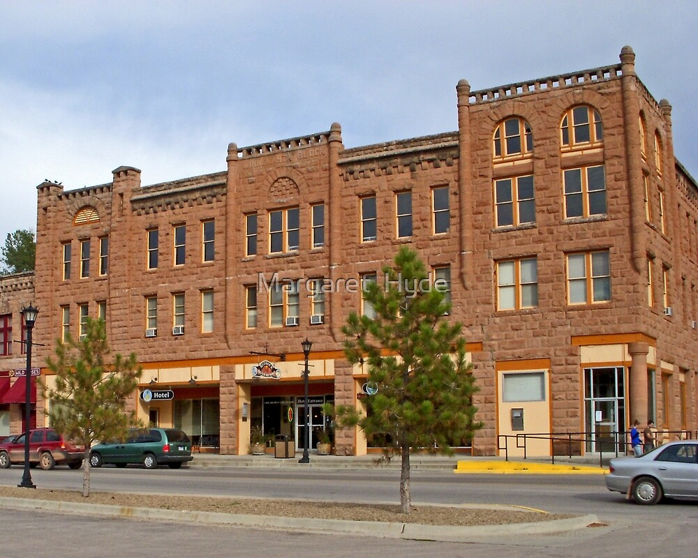 Red Rock River Hotel, Hot Springs, South Dakota by Margaret  Hyde