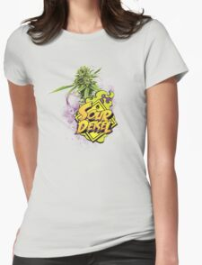Sour Deisel Marijuana Strain Art Womens Fitted T-Shirt