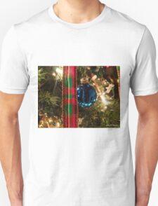 Christmas Blue Ball Ornament With Ribbon T-Shirt