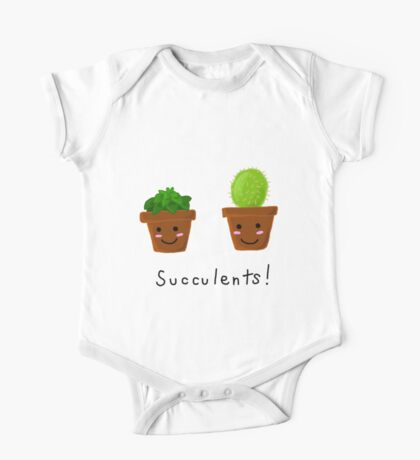 Succulents! One Piece - Short Sleeve