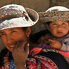 WOMAN AND CHILD FROM COLCA / PERU by Christine Kradolfer