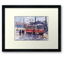 Prague Old Tram 01 Framed Print