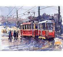 Prague Old Tram 01 Photographic Print