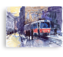 Prague Tram 02 Canvas Print