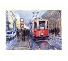 Prague Old Tram 03 Art Print