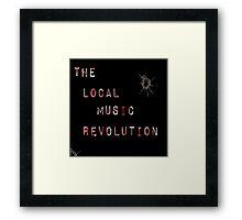 The Local Music Revolution Original Logo Framed Print