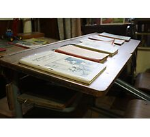 School Desks- Communism Museum Photographic Print