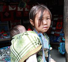 Piggy Back Mother - Sapa, Vietnam 2010 by Odalisque